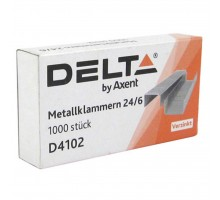 Скобы для степлера №24/6, up to 30 sheets, 1000 шт Delta by Axent (D4102)