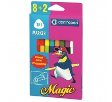 Фломастеры Centropen 2549 Magic, 10шт (8 colors+ 2 erasers) (2549/10)