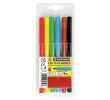 Фломастеры Centropen 7550/06 COLOUR WORLD, 06 colors (7550/06 ТП)