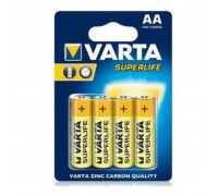 Батарейка Varta AA Superlife Zinc-Carbon * 4 (02006101414)