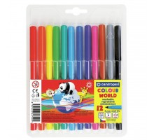 Фломастеры Centropen 7550/12 COLOUR WORLD, 12 colors (7550/12 ТП)