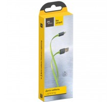 Дата кабель USB 2.0 AM to Lightning 1.0m Color Lime green Florence (FDC-L1-2L)