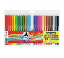 Фломастеры Centropen 7550/24 COLOUR WORLD, 24 colors (7550/24 ТП)