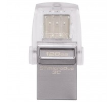 USB флеш накопитель Kingston 128GB DataTraveler microDuo 3C USB 3.0/Type C (DTDUO3C/128GB)