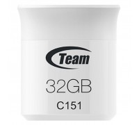 USB флеш накопитель Team 32GB C151 White USB 2.0 (TC15132GB01)