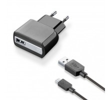 Зарядное устройство 1*USB 1A + cable 1m MicroUSB CellularLine (ACHUSBKITMICROUSB2)