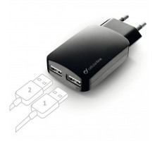 Зарядное устройство 2*USB 3,1A CellularLine (ACHUSBMOBILEDUAL3A)