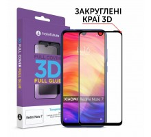 Стекло защитное MakeFuture Xiaomi Redmi Note 7 Full Cover Full Glue 3D (MGF3D-XRN7)