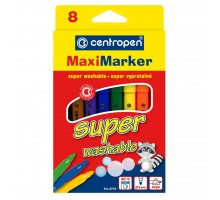 Фломастеры Centropen 8770 Maxi Super washable, 8 colors (8770/08)