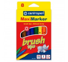 Фломастеры Centropen 8773 Maxi Brush tips, 8 colors (8773/08)