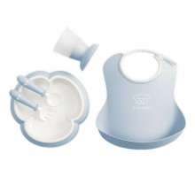 Набор детской посуды Baby Bjorn Baby Dinner Set Powder Blue (70067)