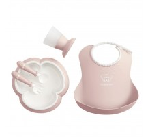 Набор детской посуды Baby Bjorn Baby Dinner Set Powder Pink (70064)