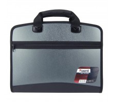 Папка - портфель Axent А4, 4 compartments, grey metallic (1621-11-А)