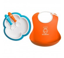 Набор детской посуды Baby Bjorn Feeding Set Orange/Turquoise (78082)