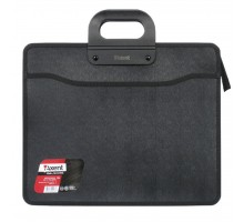 Папка - портфель Axent В4, 3 compartments, black, with zipper closure (1603-01-А)