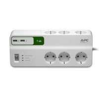 Сетевой фильтр питания APC Essential SurgeArrest 6 outlets + 2 USB (5V, 2.4A) port (PM6U-RS)