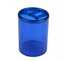 Подставка для ручек Delta by Axent Stationery glass-stand, 4 compartments, blue (D4009-02)