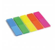 Стикер-закладка Axent Plastic bookmarks 5х12х50mm, 125шт, rectangles, neon colors (2440-01-А)