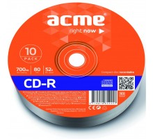 Диск CD ACME 700Mb 52x shrink 10шт (4770070854457)