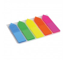Стикер-закладка Axent Plastic bookmarks 5х12х50mm, 125шт, arrows, neon colors mix (2440-02-А)