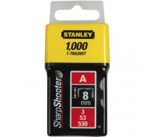Скобы Stanley Light Duty тип а, 8мм, 1000шт (1-TRA205T)