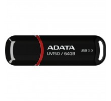 USB флеш накопитель ADATA 64GB UV150 Black USB 3.0 (AUV150-64G-RBK)