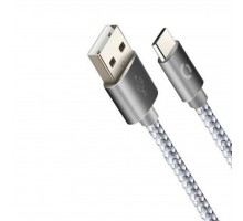 Дата кабель USB Type-C 2A Ace Silver 1m CORD (CDA-T1-2SI)