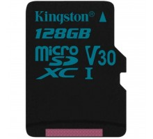 Карта памяти Kingston 128GB microSD class 10 UHS-I U3 Canvas Go (SDCG2/128GBSP)