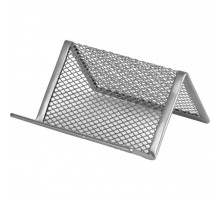 Подставка для визиток Axent 95x80x60мм, wire mesh, silver (2114-03-A)