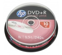 Диск DVD HP DVD+R 8.5GB 8X DL 10шт Spindle (69309)