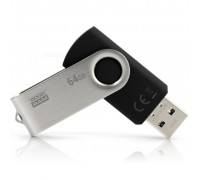 USB флеш накопитель GOODRAM 64GB Twister Black USB 3.0 (UTS3-0640K0R11)