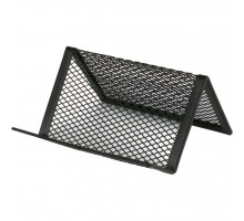Подставка для визиток Axent 95x80x60мм, wire mesh, black (2114-01-A)