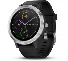Смарт-часы Garmin Vivoactive 3 Silver with Black Silicon (010-01769-B0)