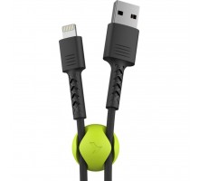 Дата кабель USB 2.0 AM to Lightning 1.0m Soft black Pixus (4897058530933)