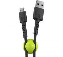 Дата кабель USB 2.0 AM to Micro 5P 1.0m Soft black Pixus (4897058530926)