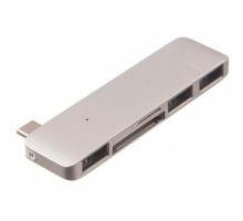Переходник Type-C to 3*USB 3.0, SD/microSD reader (Silver) Kit (C5IN1SL)