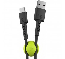 Дата кабель USB 2.0 AM to Type-C 1.0m Soft black Pixus (4897058530919)