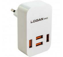 Зарядное устройство LOGAN Quad USB Wall Charger 5V 4A (CH-4 White)