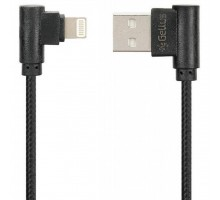 Дата кабель USB 2.0 AM to Lightning Pro Emperor Black Gelius (63247)
