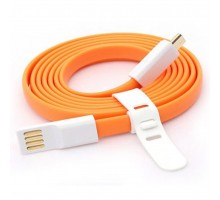 Дата кабель USB 2.0 – Micro USB 1.0м Orange AUZER (AC-M1OR)
