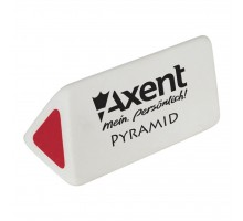 Ластик Axent soft Pyramid, white-red (display) (1187-А)