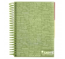 Блокнот Axent with dividers А5, 120sheets, square, green (8405-03-A)