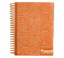 Блокнот Axent with dividers А5, 120sheets, square, orange (8405-04-A)
