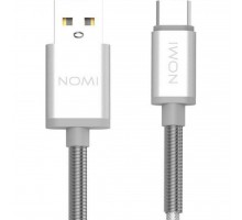 Дата кабель USB 2.0 AM to Type-C 1.0m DCMQ Silver Nomi (316207)