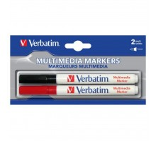 Маркер Verbatim MULTI MEDIA MARKER 2шт/PACK (BLACK/RED) (44125)