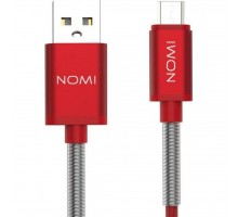 Дата кабель USB 2.0 AM to Micro 5P 1.0m DCMQ Red Nomi (316211)