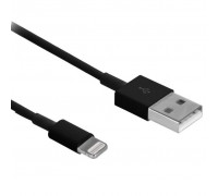 Дата кабель Drobak USB 2.0 – Lightning (Black) 1.0м (215340)