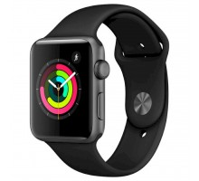 Смарт-часы Apple Watch Series 3 GPS, 42mm Space Grey Aluminium Case with Blac (MTF32GK/A)
