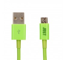 Дата кабель USB 2.0 AM to Micro 5P 1.0m Simple Green JUST (MCR-SMP10-GRN)