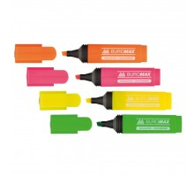 Маркер BUROMAX highlighter pen, chisel tip, SET 4 colors (BM.8901-94)
